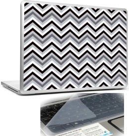 Headturnerz Black White Grey Zig Zag Pattern Combo Set