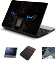 Psycho Art Black Cat Blue Eyes Combo Set (Multicolor)