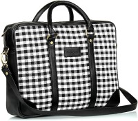 Gauge Machine 15 Inch Laptop Messenger Bag (Black & White)