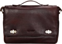 Scharf Designer Handle Crossbody 15 Inch Laptop Messenger Bag (Brown 51)
