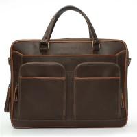 Brune 15 Inch Laptop Messenger Bag Brown