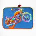 Chumbak 13 inch - Motorcycle 13 inch Laptop Sleeve - Multicolor