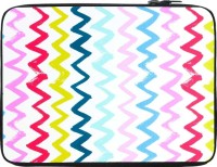 Snoogg Hori Pencil Waves 2571 15 Inch Expandable Sleeve/Slip Case (Multicolor)