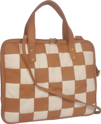 Toteteca Bag Works Weaved Laptop Bag TT2027 15 inch Laptop Bag Tan and Offwhite available at Flipkart for Rs.2600
