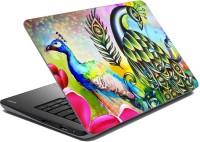 MeSleep Multi Color Peacock Vinyl Laptop Decal (Laptop)