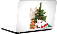 Pics And You Cat And Christmas 3M/Avery Vinyl Laptop Decal (Laptops And MacBooks)