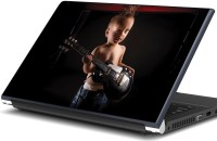 Artifa Baby With Black Guitar Music Vinyl Laptop Decal (Laptop)