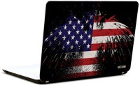 Pics And You America Flag Abstract Vinyl Laptop Decal (Laptops And Macbooks)