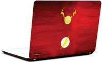 Pics And You Flash Logo On Red 3M/Avery Vinyl Laptop Decal (Laptops And MacBooks)