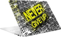 AV Styles Never Give Up Laptop Skin Vinyl Laptop Decal (For All Laptops)