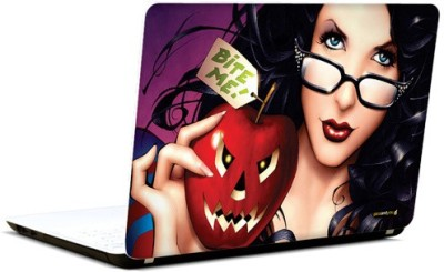 Pics And You Bite Me 3M/Avery Vinyl Laptop Decal (Laptops And MacBooks)