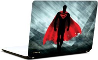 Pics And You Superman Black N Red 3M/Avery Vinyl Laptop Decal (Laptops And MacBooks)