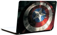 Pics And You Captain America Logo On Shield Vinyl Laptop Decal (Laptops And Macbooks)