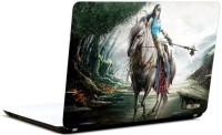 Pics And You Girl On Horse Vinyl Laptop Decal (Laptops And Macbooks)