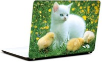 Pics And You Cat And Chicks Vinyl Laptop Decal (Laptops And Macbooks)