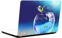 Pics And You 3D Fish In Bowl Vinyl Laptop Decal (Laptops And Macbooks)