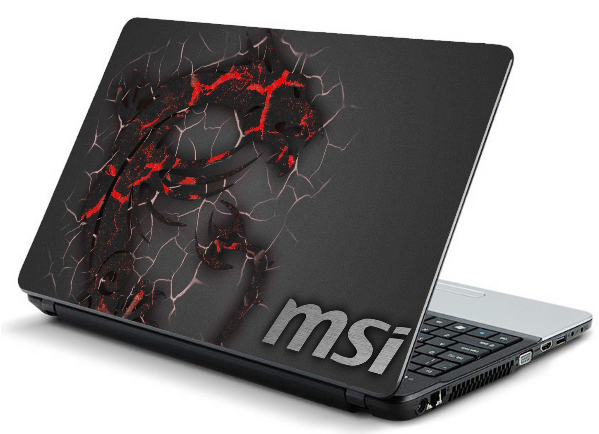 60 Off On Print Shapes Msi Dragon Logo Grey Laminated