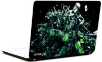 Pics And You Green N Black Pattern Vinyl Laptop Decal (Laptops And Macbooks)