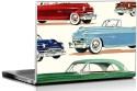 Seven Rays Vintage Cars Vinyl Laptop Decal - Laptop