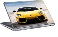 AV Styles Yellow Lamborghini In Desert Skin Vinyl Laptop Decal (All Laptops)