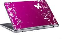 AV Styles White Butterflies On Pink Skin Vinyl Laptop Decal (All Laptops)