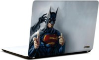 Pics And You Superman Batman 3M/Avery Vinyl Laptop Decal (Laptops And MacBooks)