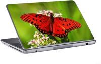AV Styles Red Butterfly On Flower Skin Vinyl Laptop Decal (All Laptops)