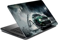 MeSleep Green Car LS-84-031 Vinyl Laptop Decal (All Laptop Skin)