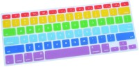 Go Crazzy Colourful Tpu Soft Silicone Keyboard Case Cover Protector For Apple Macbook Air 11.6 GC004381 RUBBER Laptop Decal (Laptop)