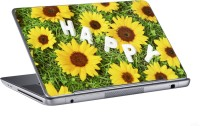 AV Styles Happy With Yellow Flowers Skin Vinyl Laptop Decal (All Laptops)