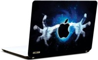 Pics And You Apple Logo With Hands Vinyl Laptop Decal (Laptops And Macbooks)