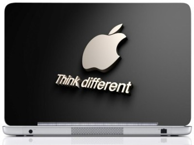 WebPlaza Think Diffrent Apple Laptop Skin Vinyl Laptop Decal (All Laptops With Screen Size Upto 15.6 Inch)