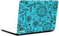 Pics And You Offbeat Floral Blue Vinyl Laptop Decal (Laptops And Macbooks)