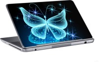 AV Styles Light Blue Butterfly Skin Vinyl Laptop Decal (All Laptops)