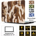 "AirPlus AirCase Premium Designer Series for Apple MacBook Air 13"" Rubberized Satin Feel HardCase HardShell Cover 13.3"", Camouflage Series,"