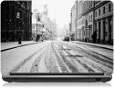 Zapskin Black And White Winter Day In The City Laptop Skin Vinyl Laptop Decal - Laptop