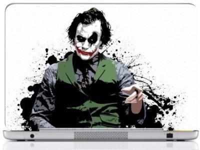 WebPlaza Joker White Skin Vinyl Laptop Decal (All Laptops With Screen Size Upto 15.6 Inch)