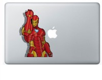 AV Styles Iron Man Animated Transparent Vinyl Laptop Decal (Macbooks, Light Colour Laptops)