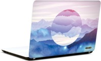 Pics And You Abstract Sky And Mountain 3M/Avery Vinyl Laptop Decal (Laptops And MacBooks)