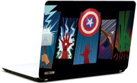 Pics And You Superheroes Symbolic 3M/Avery Vinyl Laptop Decal (Laptops And MacBooks)