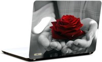 Pics And You Rose In Hand Vinyl Laptop Decal (Laptops And Macbooks)