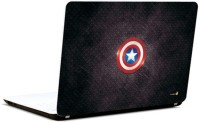 Pics And You Captain America Logo With Texture Vinyl Laptop Decal (Laptops And Macbooks)