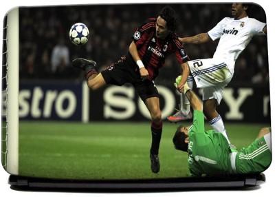 Hawtskin AC Milan And Real Madrid In Action laptop skin
