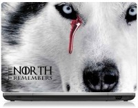 ClickToSolve The North Remembers, White Direwolf Vinyl Laptop Decal (Laptops - 15.6 Inches)