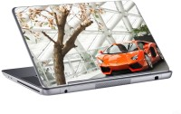 AV Styles Beautiful Orange Lamborghini Skin Vinyl Laptop Decal (All Laptops)