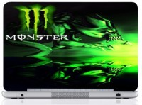 WebPlaza Fire Monster 2Skin Vinyl Laptop Decal (All Laptops With Screen Size Upto 15.6 Inch)
