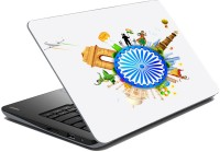 MeSleep Indian Flag Chakra LS-91-095 Vinyl Laptop Decal (All Laptop Skin)