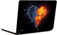 Pics And You Abstract Fire Heart Vinyl Laptop Decal (Laptops And Macbooks)