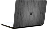 Pics And You Apple Logo Wooden Grey Vinyl Laptop Decal (Laptops And Macbooks)