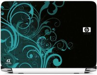 FineArts HP Abstract Blue And Black Vinyl Laptop Decal (All Laptops With Screen Size Upto 15.6 Inch)